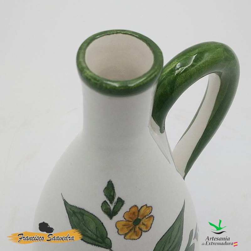 """Aceitera de cerámica """"Tricolor"""""""