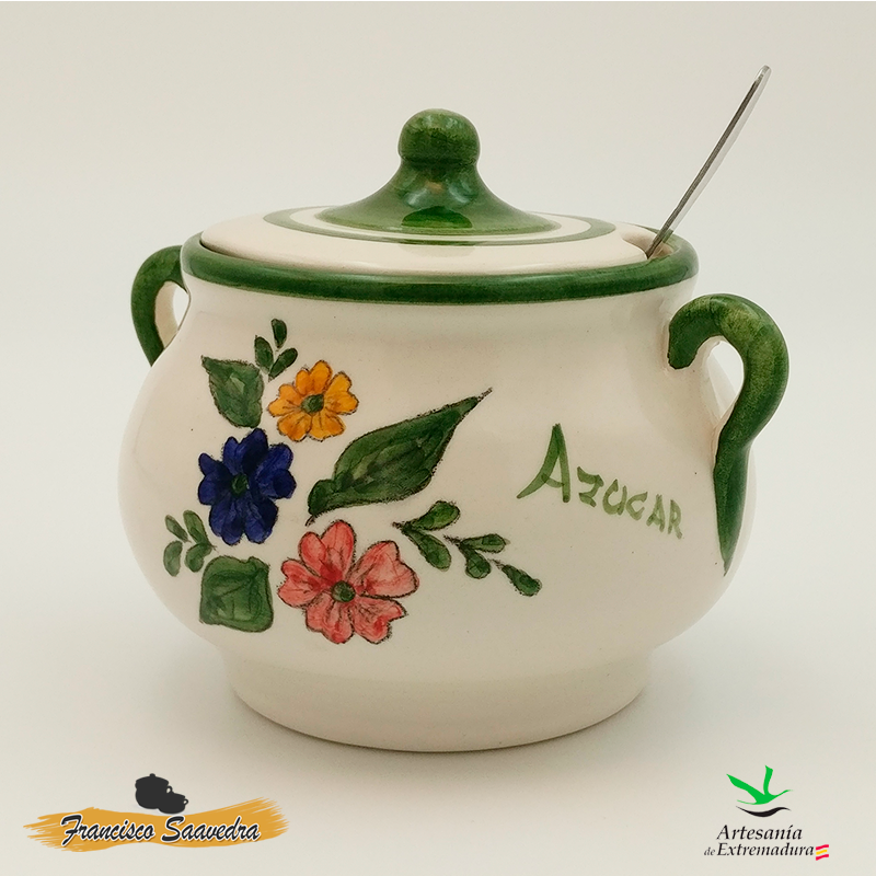 """Azucarero de cerámica """"Tricolor"""""""