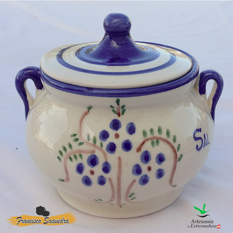 Salero de cerámica «Ramito Azul»