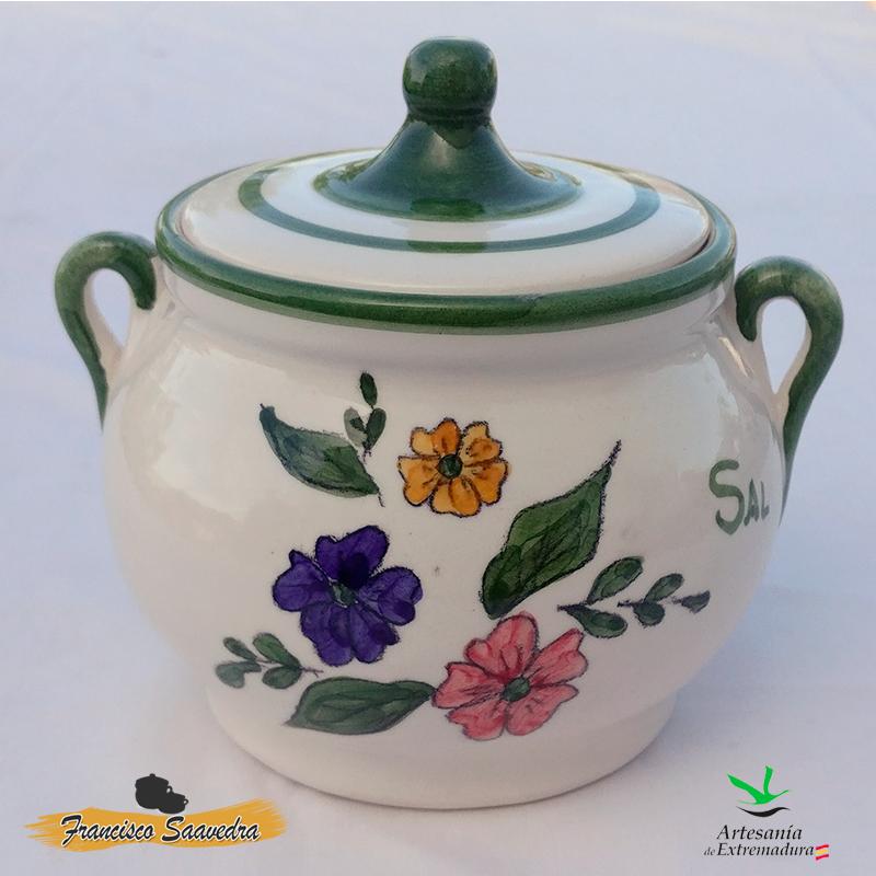 Salero de cerámica «Tricolor»